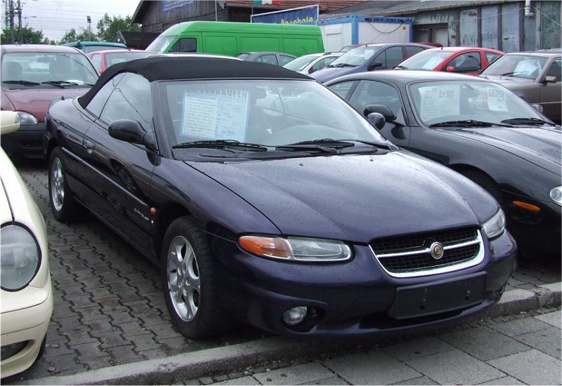chrysler stratus cabrio 2 5 1999 auta5p id 2956 en. Black Bedroom Furniture Sets. Home Design Ideas