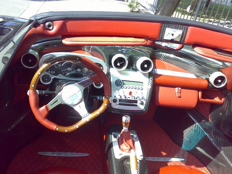 Pagani zonda f roadster engine