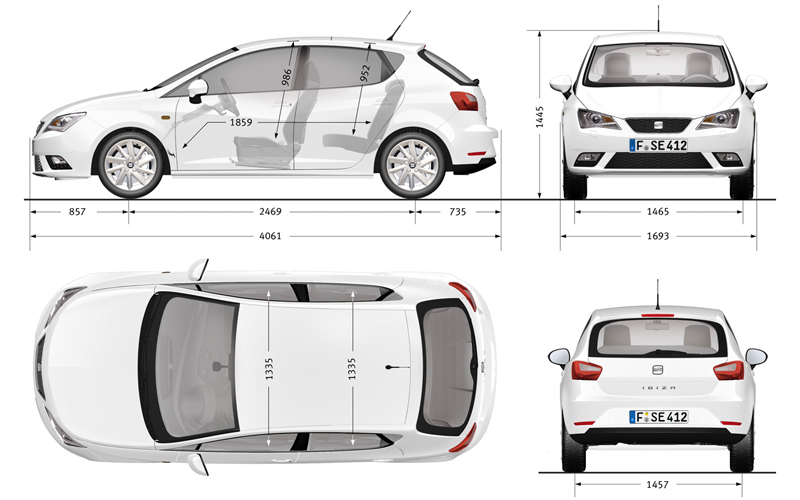 seat ibiza 1 6 tdi 2012 auta5p id 18541 ger. Black Bedroom Furniture Sets. Home Design Ideas
